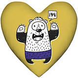 Подушка сердце интерьерная 2 размера - 37*37 см; 57*57 см, фото 3