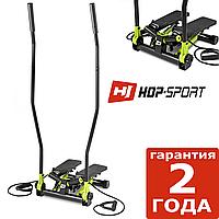 Степпер Hop-Sport HS-045S Slim Салатовый + Скандинавская ходьба. До 120 кг.