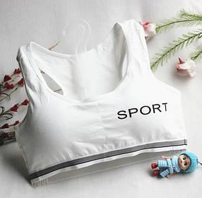 Стильный спортивный Топ с чашечками Sport