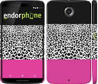 """Чехол на Motorola Nexus 6 Шкура леопарда v3 """"2723c-67"""""""