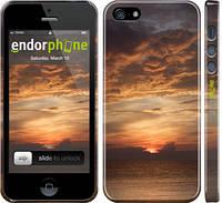 "Чехол на iPhone 5 Закат ""2922c-18"""