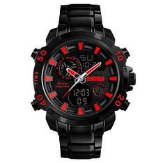 Часы наручные мужские Skmei 1306 Steel Black-Red