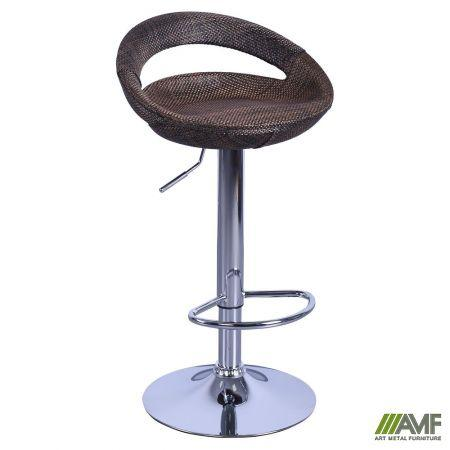 Барный стул хокер Санти пластик/ротанг AMF