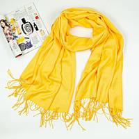 Кашемировый палантин солнечный желтый