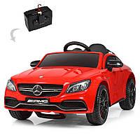 Детский электромобиль Mercedes с кожаным сиденьем, M 4010EBLR-3 красный