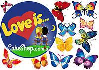 Вафельная картинка Love is... 17