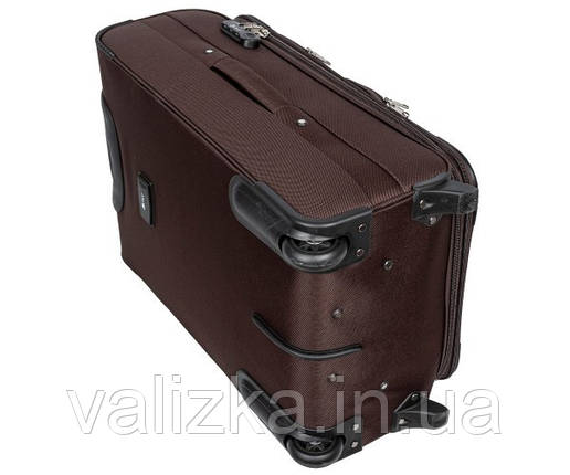 Текстильний валіза великий Golden Horse -2021 на колесах коричневий, фото 2