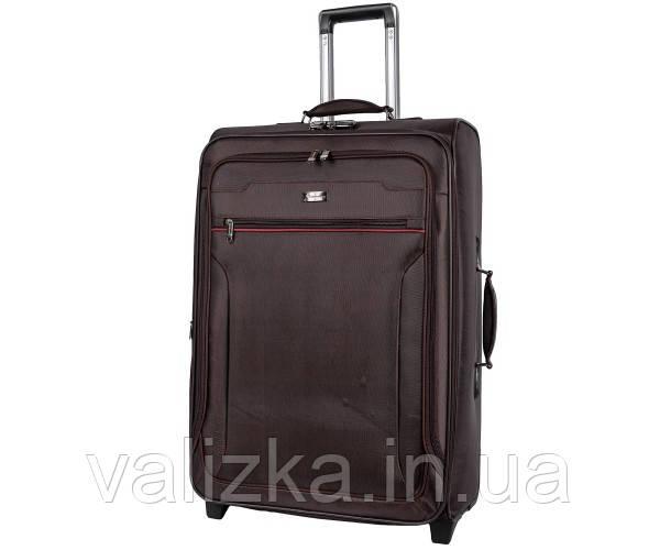 Текстильний валіза великий Golden Horse -2021 на колесах коричневий
