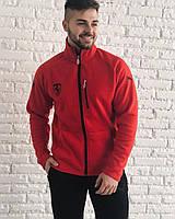 Костюм спортивный мужской теплый с начесом Puma Ferrari красный