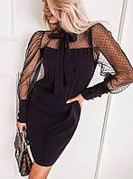 Стильное чёрное женское платье (Норма и Батал)