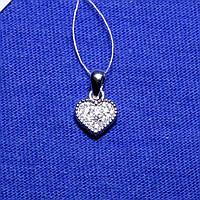 Серебряная подвеска Сердце ажурное 3797-р