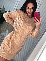 Вязаное женское платье (туника), фото 1