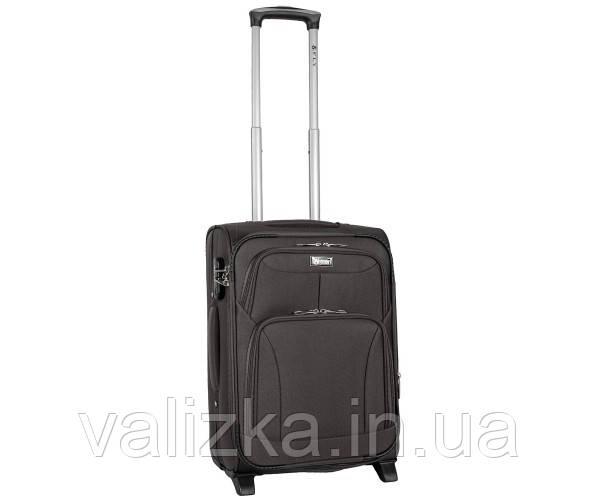 Текстильный чемодан маленький для ручной клади Golden Horse на двух колесах графит