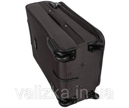 Текстильный чемодан маленький для ручной клади Golden Horse на двух колесах графит, фото 2