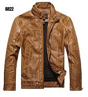 Мужская демисезонная кожаная куртка. Арт..01501