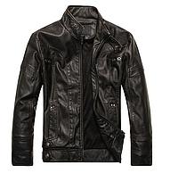 Мужская демисезонная кожаная куртка. Арт.01502