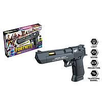 Пистолет Magnum Desert Eagle Fortnite черный светомузыкальный