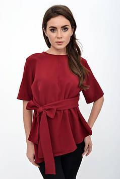Блуза женская цвет Бордовый размер 38