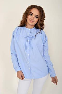 Блузка женская цвет Голубой размер 36