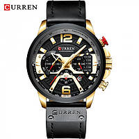 Мужские часы Curren Versace black+gold