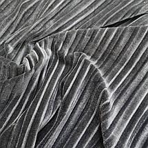 Ткань бархат стрейч плиссированный серый, фото 2