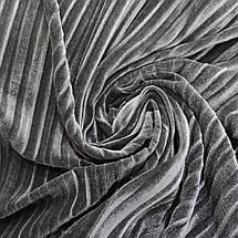 Ткань бархат стрейч плиссированный серый, фото 3