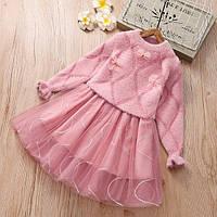 Платье детские теплое SMAIL розовое