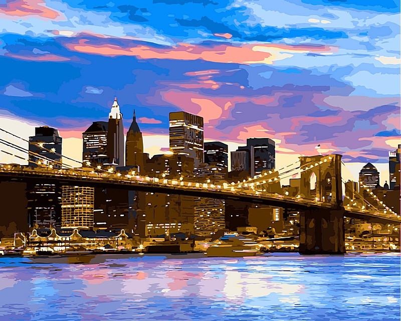 Набор-раскраска по номерам Бруклинский мост