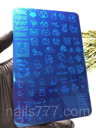 Трафарет, пластина для стемпинга металева велика, фото 2