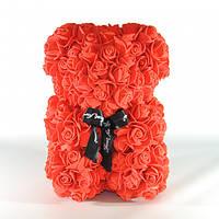 Мишка из роз Bear Flowers 27 см Red (hub_NIzv38083)