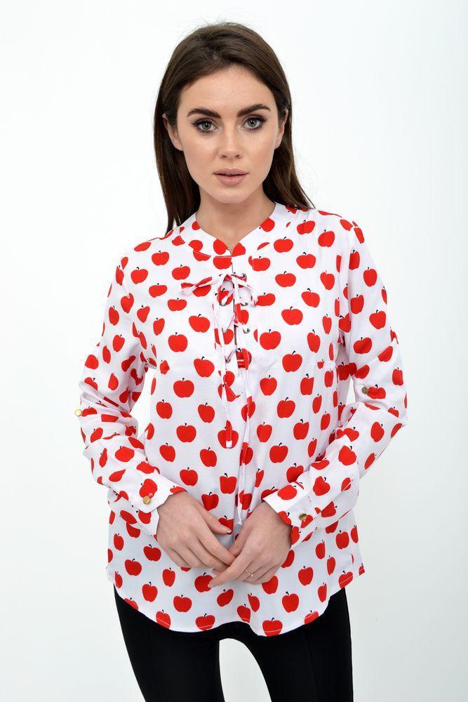 Блузка женская цвет Бело-красный