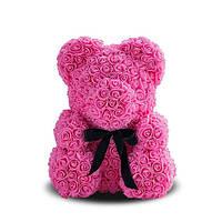 Мишка из роз Flower Bear Розовый 40 см (684-01)