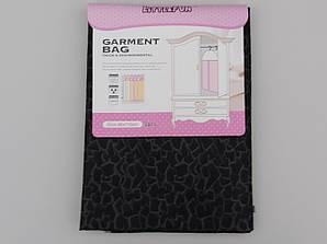 Чехол для хранения одежды утолщенный флизелиновый черного цвета, размер 60*110 см