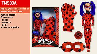 """Лялька (кукла) типу """"Барби"""" 29 см TM533A (1644282) (96шт/2) муз., """"Леді Баг і Супер-Кіт"""", аксес., в кор. 23*4,"""