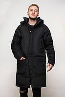 Чоловіча зимова довга куртка хорошої якості, фото 1