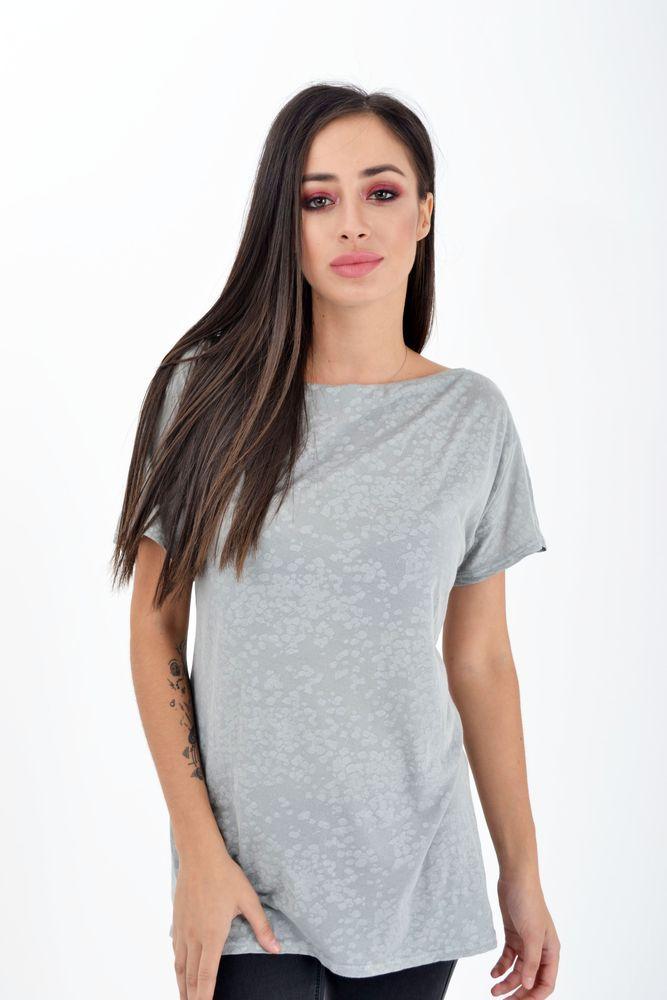 Блуза женская с короткими рукавами цвет Серая варенка размер L