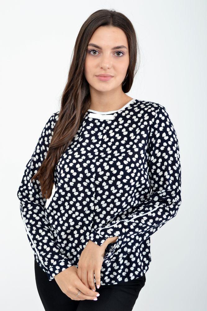 Блузка женская цвет Бело-синий размер 36