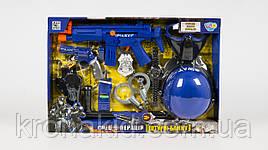 Детский игровой набор полиции 33540: автомат, пистолет, каска, часы, наручники, маска, рация