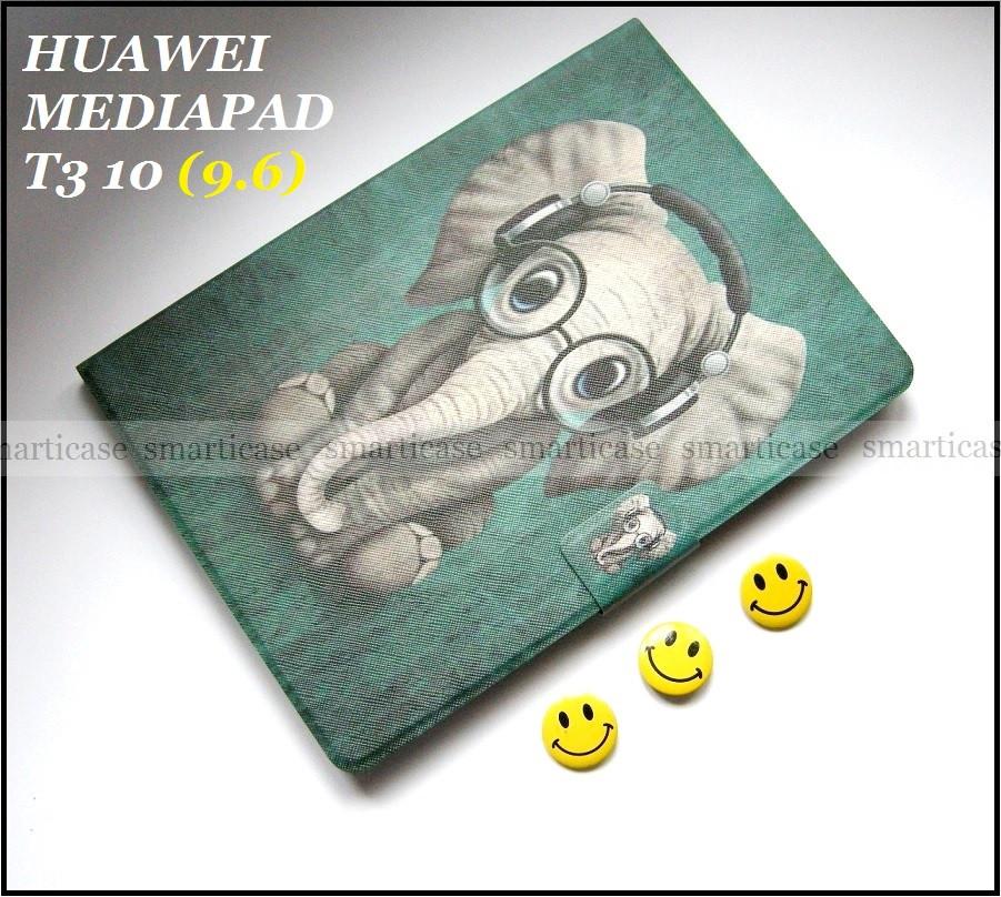 Зеленый чехол со слоником для Huawei Mediapad T3 10 (9.6) AGS-L09 AGS-W09