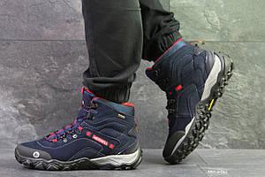 Мужские высокие термо кроссовки Merrell,темно синие 44р