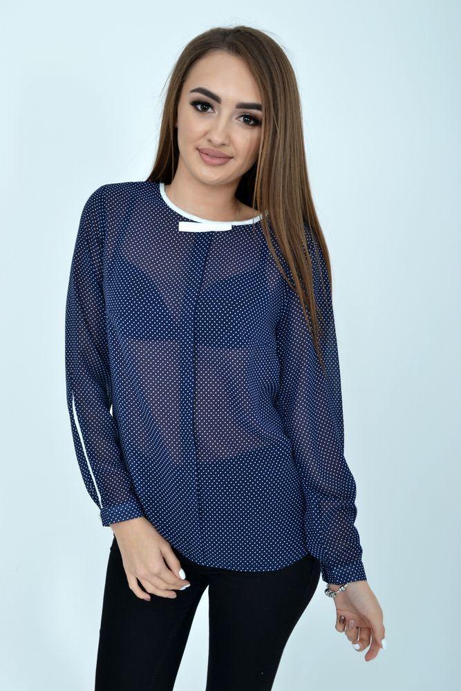 Блуза женская цвет Синий размер 38
