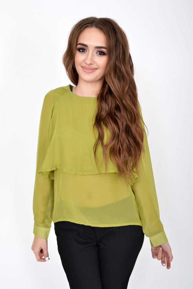 Блуза женская цвет Светло-зеленый