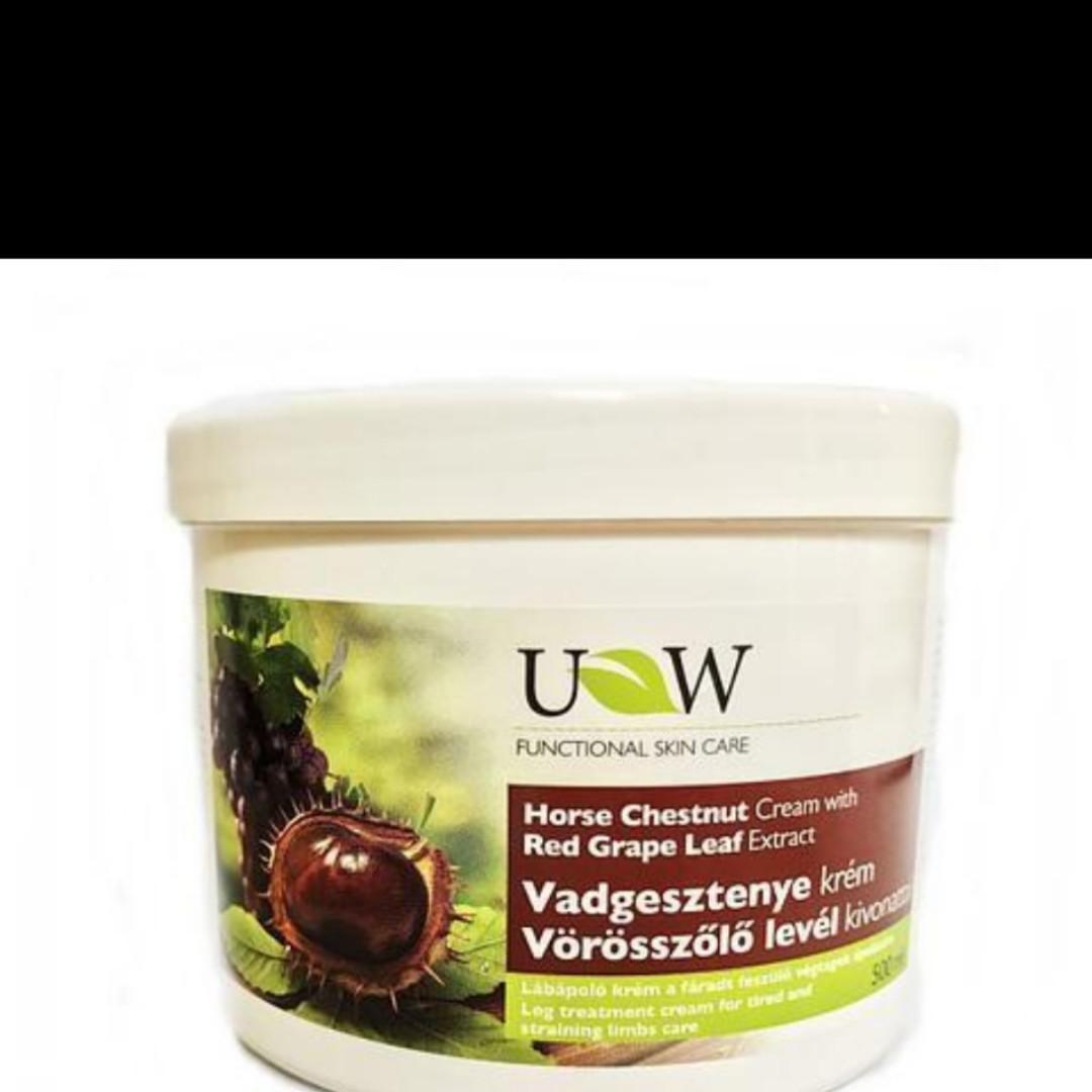 Варикозний каштанний крем для ніг з маслом виноградних листочків /500мл/ Угорщина