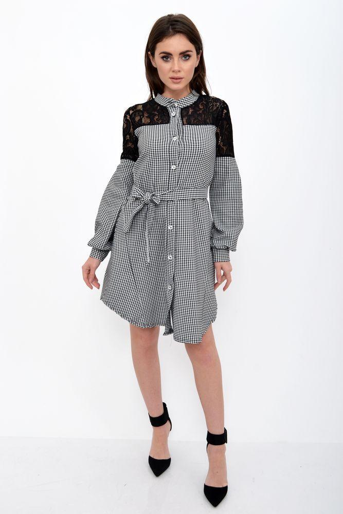 Платье женское цвет Черно-белый