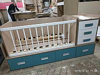 Дитяча комбо-ліжко для новонароджених ДМ 500, фото 1