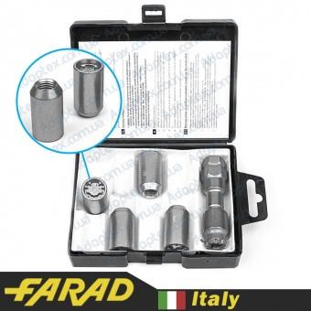 FARAD MICROLOCK | Гайки секретки М12х1.5х36 Конус для вузьких отворів в дисках Внутрішній ключ 17-19