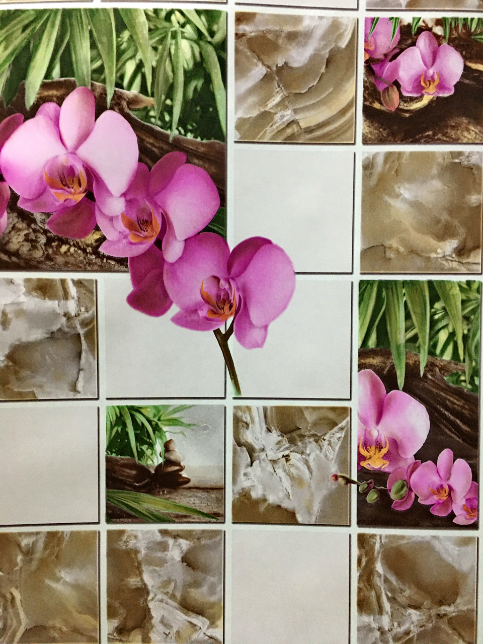 """Обои бумажные моющиеся, """"Орхидея""""  8124.01   для столовой, кухни, холла, и др. помещений  0,53*10"""