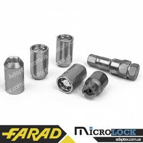 FARAD MICROLOCK | Гайки секретки М12х1.5х36 Конус для вузьких отворів в дисках Внутрішній ключ 17-19, фото 2