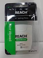 Зубная нить Johnson & Johnson Флос REACH Мятная Средней Жесткости Джонсон