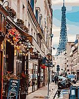 Картина по номерам В центре Парижа (40 х 50 см)